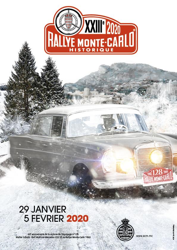 Poster Rallye Monte-Carlo Historique 2020