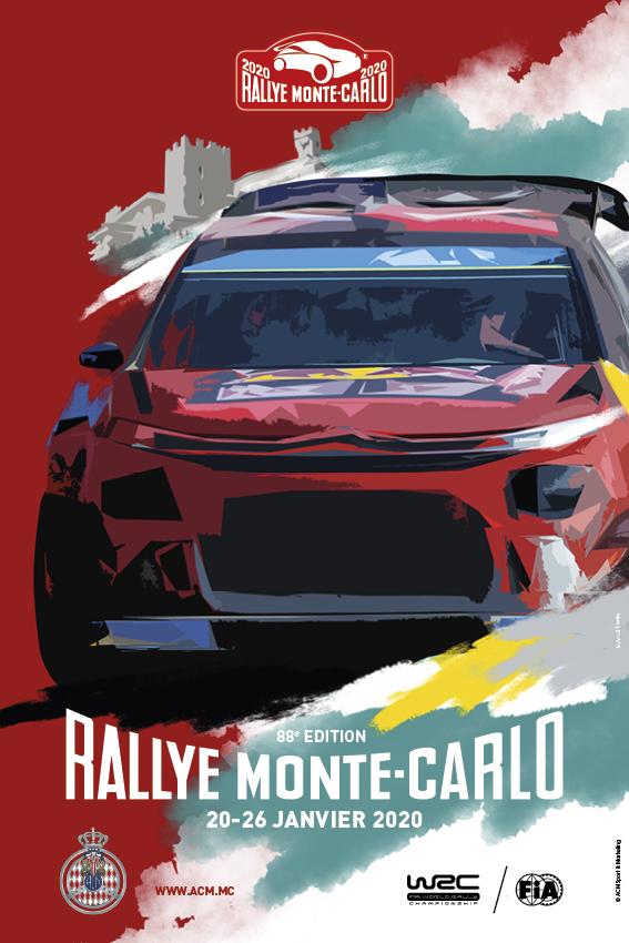 Affiche Rallye Monte-Carlo 2020