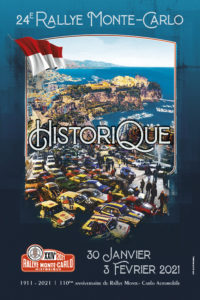affiche Rallye Monte-Carlo Historique 2021