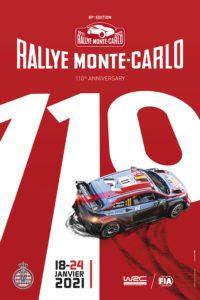 affiche Rallye Monte-Carlo 2021