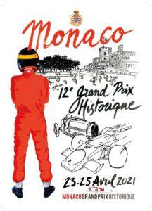affiche Grand Prix de Monaco Historique 2021