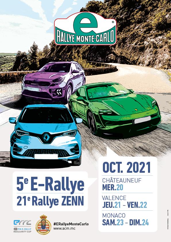 Affiche E-Rally Monte-Carlo 2021