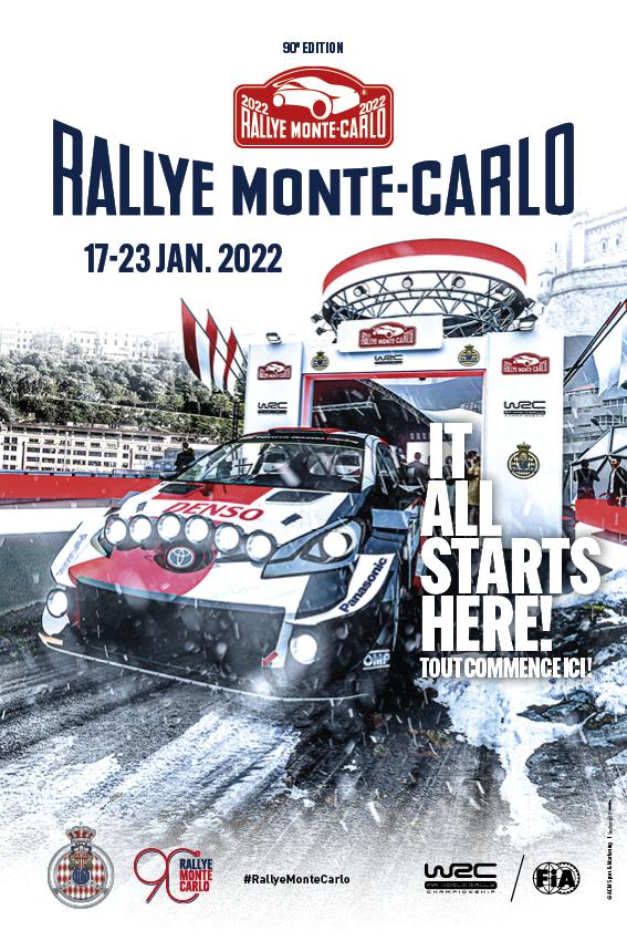 Affiche Rallye Monte-Carlo 2022