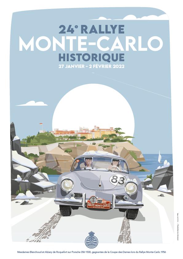 Affiche Rallye Monte-Carlo Historique 2022